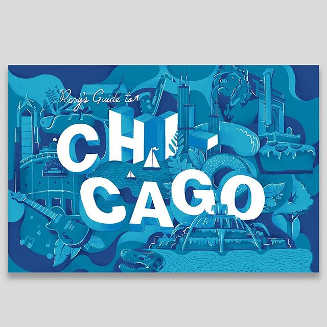 Follow-up to the city guide header illustrations from yesterday: here were a couple of illustrations for Chicago and for Boston from the concept exploration that didn't make the cut. But I really loved how these turned out — they were a different style than normal for me, and just so jam-packed with color and detail — and so I wanted to put them out here to let them see the light of day. (If you want to see the finals, check yesterday's posts) Maybe I'll find the right project for this style down the road. Thanks again to the editorial and art team for the whole process!