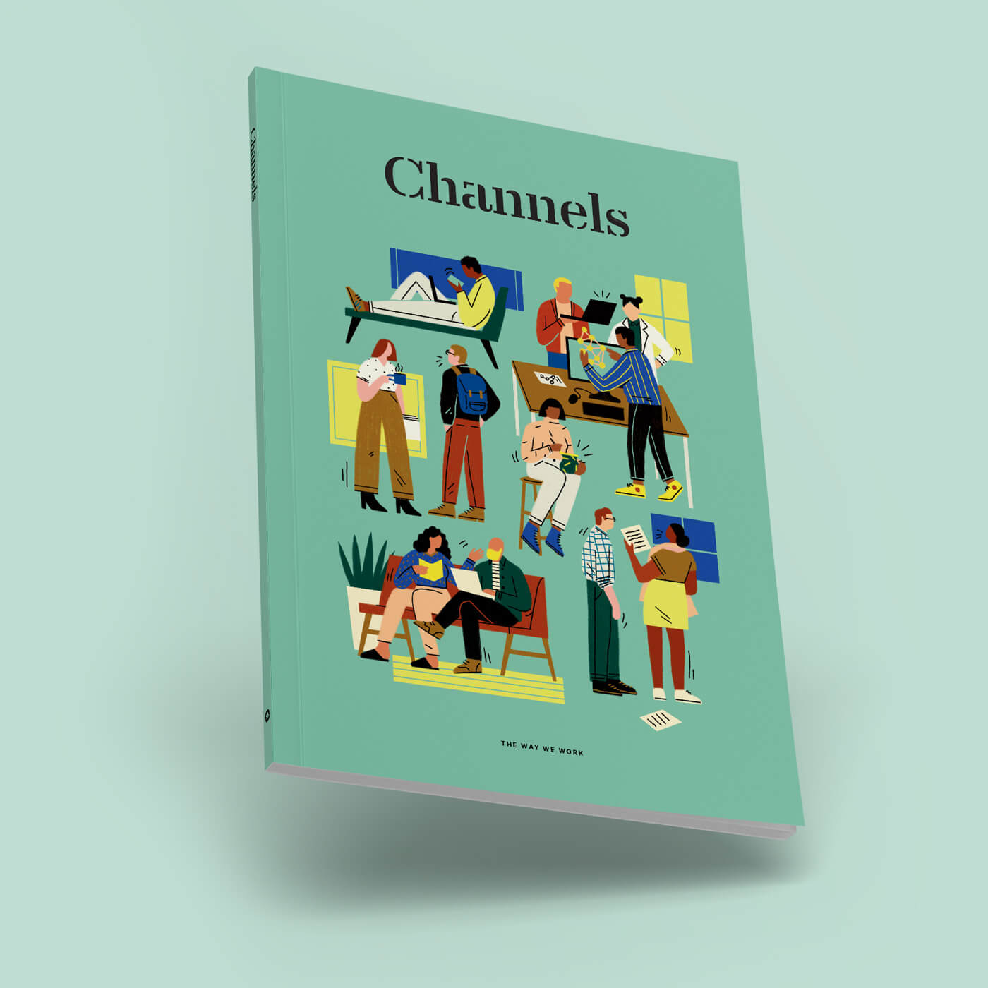 Channels - A magazine from Slack that explores how the modern workplace is evolving.Art Direction, Design