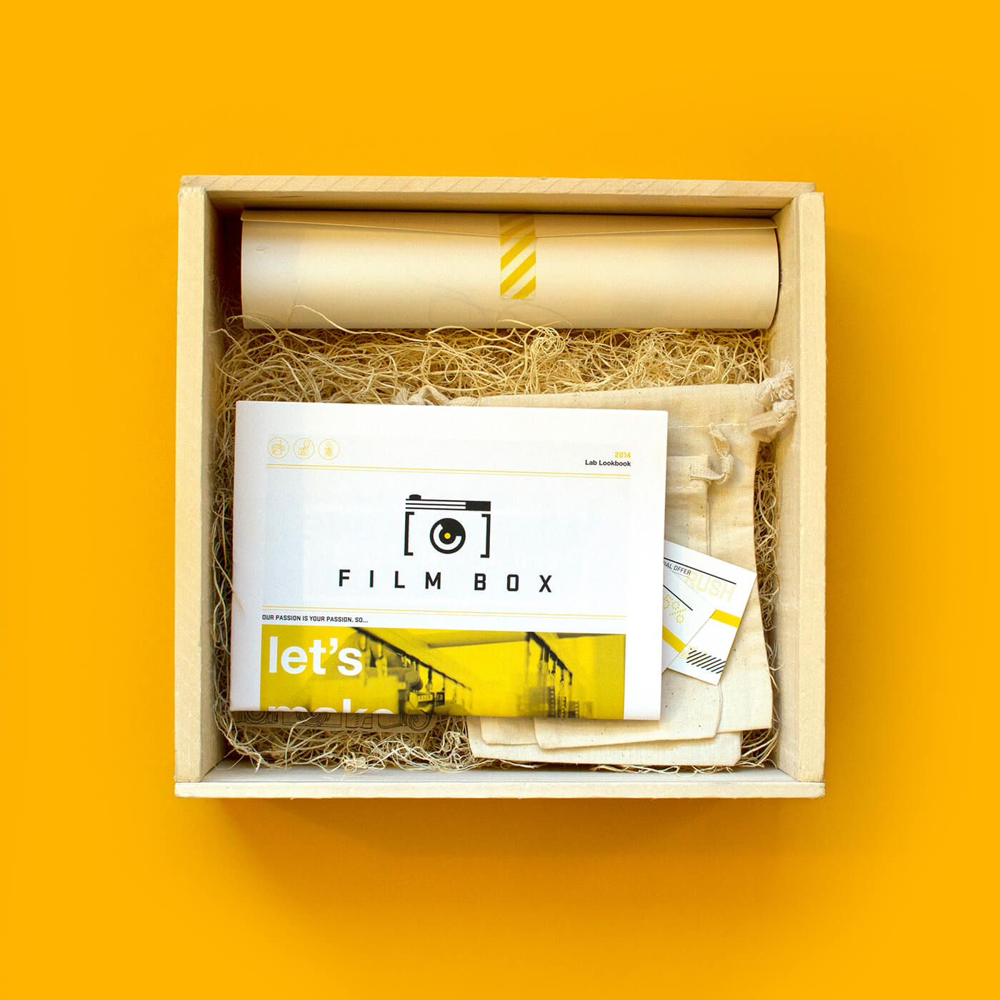Film Box - A tactile and experiential marketing kit designed for Film Box, a photo development lab in Nashville, to send out to professional photographers and celebrate the beauty and process of film photography.View Project →