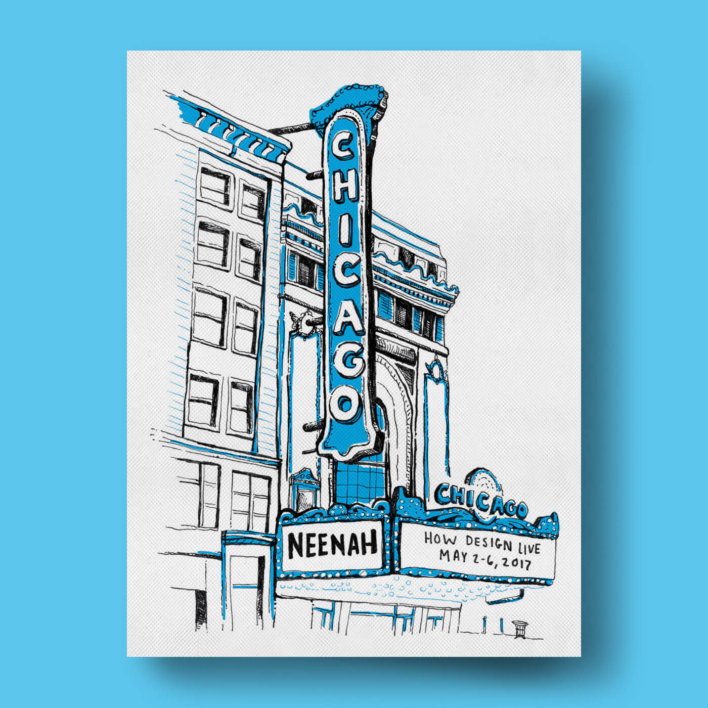 Neenah Presents Chicago - An illustrated guide of the Windy City, featuring seven maps of how to experience Chicago for designers, sightseers, pizza enthusiasts and more.