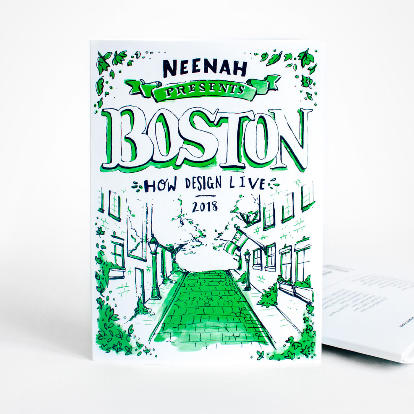 Neenah Presents Boston - An illustrated guide of the Hub of the Universe, featuring a full map of Boston and illustrations of its history of architecture, culture, and design.
