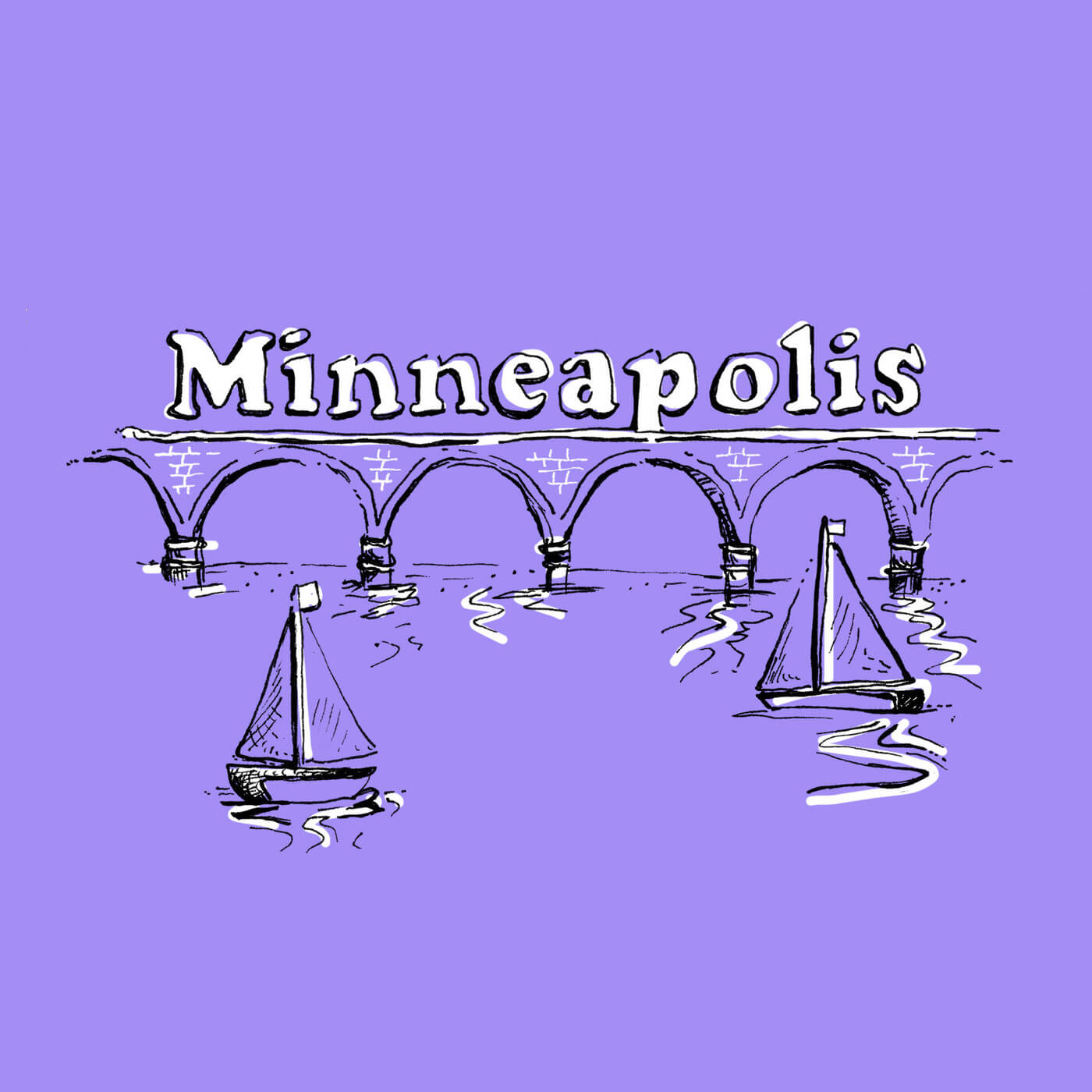Neenah Presents Minneapolis - An illustrated guide to the land of ten thousand lakes, featuring hand-drawn neighborhood maps around Minneapolis.