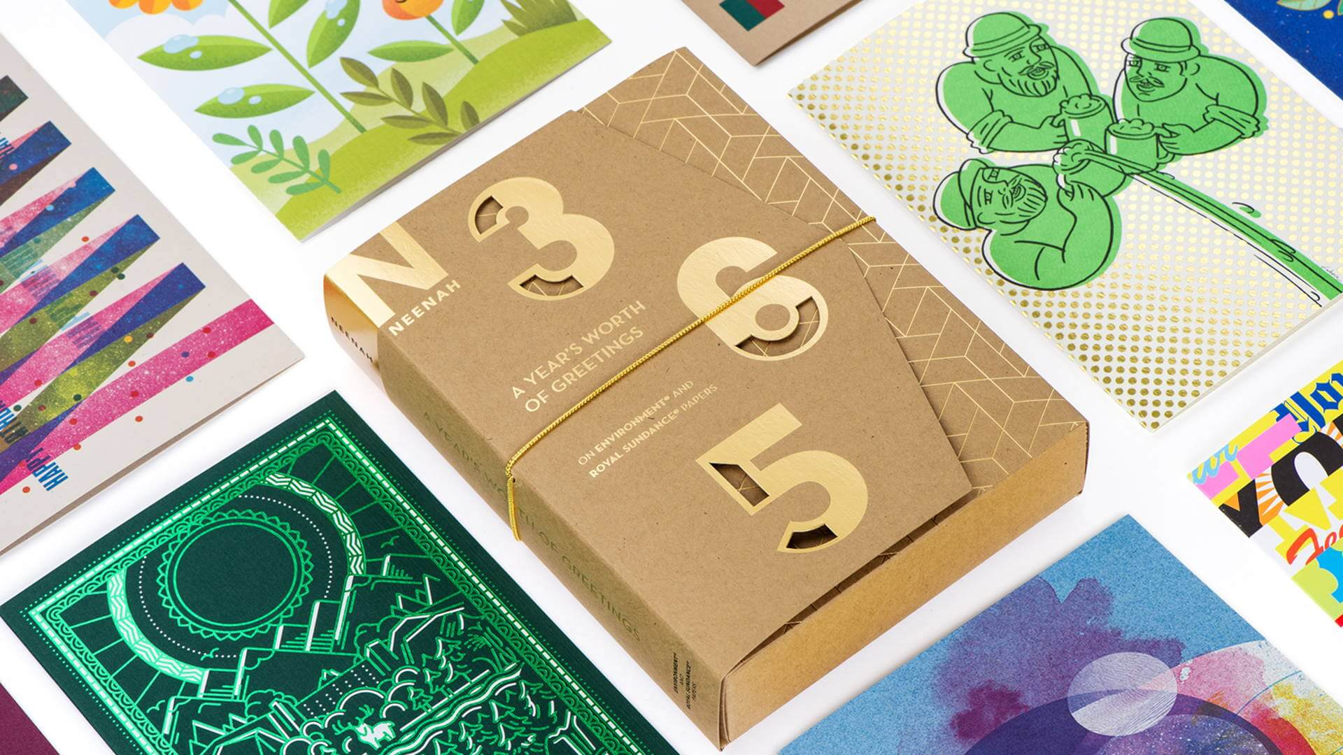 """Neenah Paper's """"A Year's Worth of Greeting Cards"""" promotion featuring Russell Shaw's Earth Day Card"""