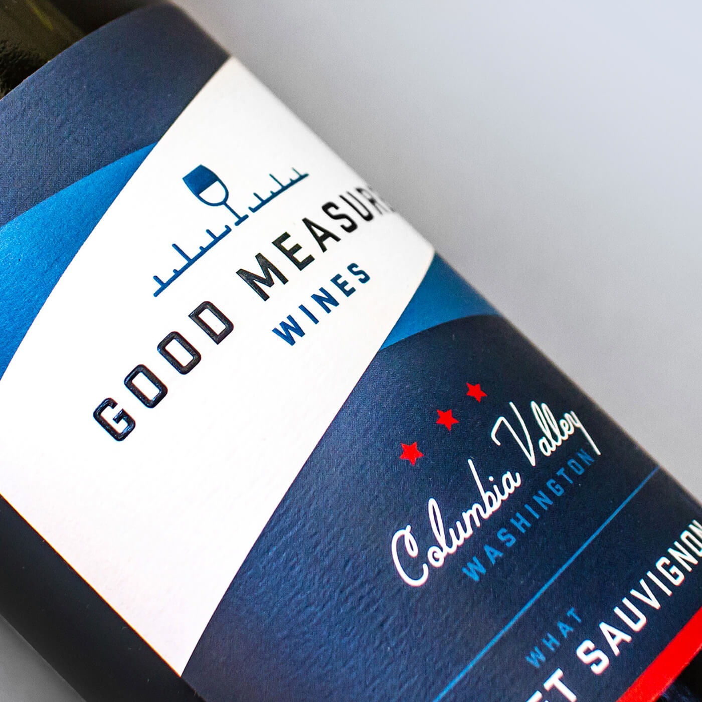 Good Measure Wines - A casual, accessible sister brand to Square, Plumb & Level that offers a slightly lower price point while retaining high quality taste to discernible palates.BrandingView Project →