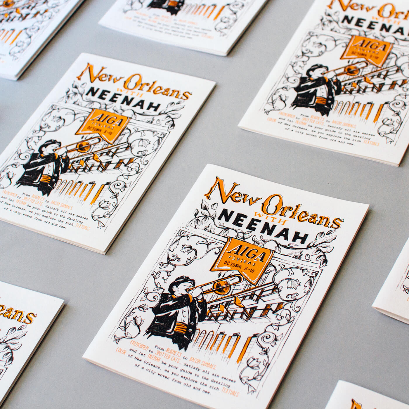 New Orleans with Neenah - An illustrated neighborhood guide of the Big Easy, with neighborhood maps to introduce you to destinations, restaurants, music and more from the French Quarter to Frenchmen Street and beyond.IllustrationView Project →