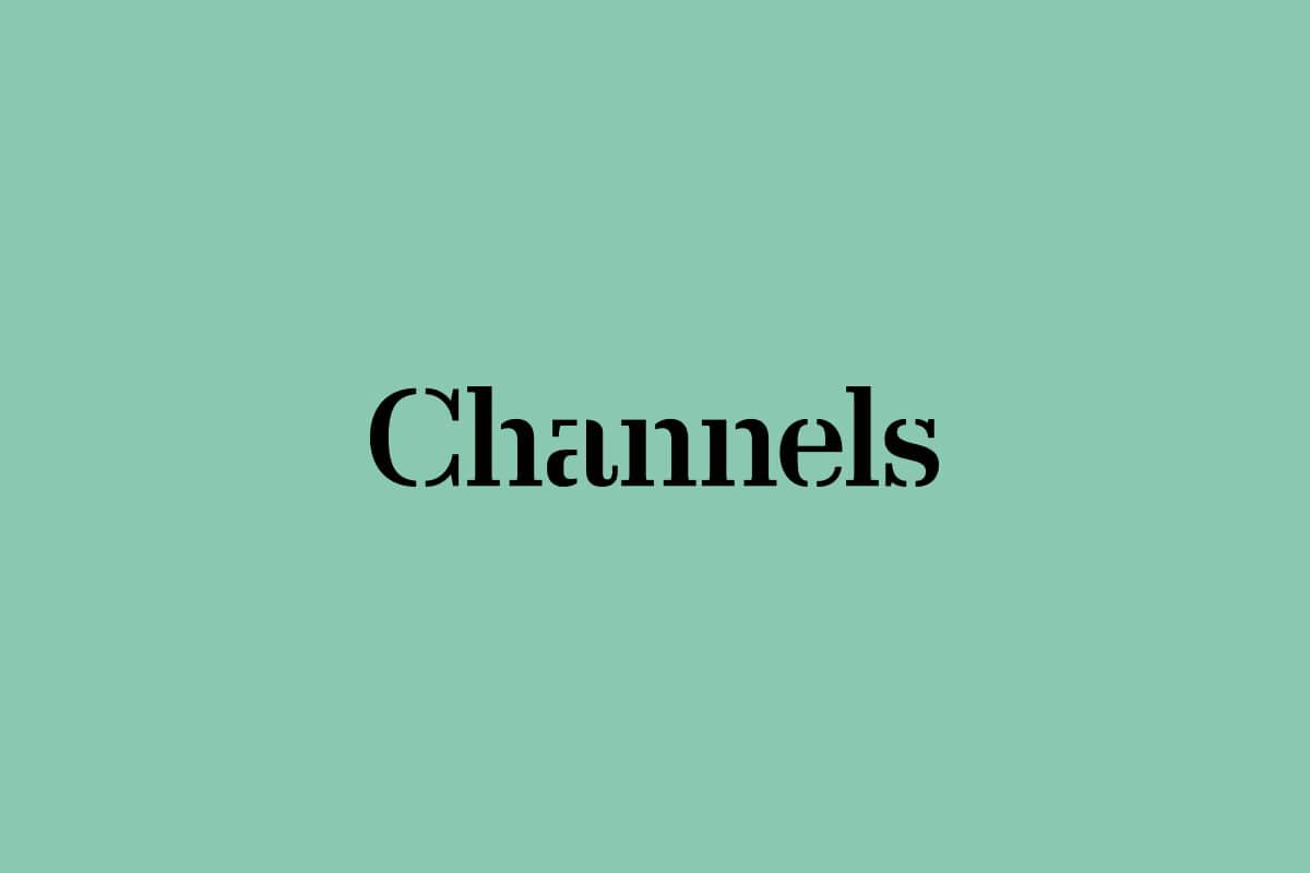 Slack's Channels magazine masthead logo design