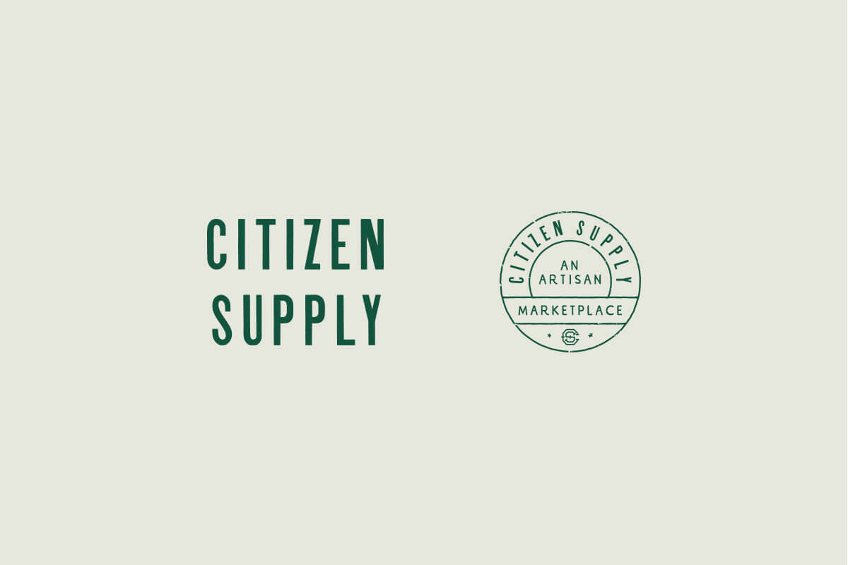 Citizen Supply at Ponce City Market retail store logo design
