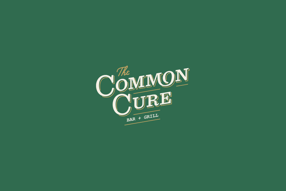 The Common Cure Bar and Grill Greenville South Carolina restaurant logo design