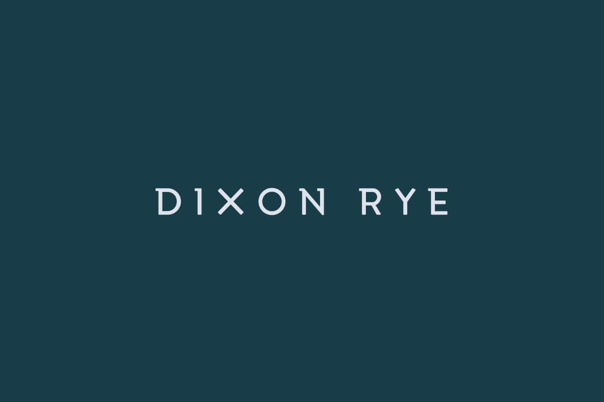 Dixon Rye retail logo design and custom letters for interior design firm in Atlanta
