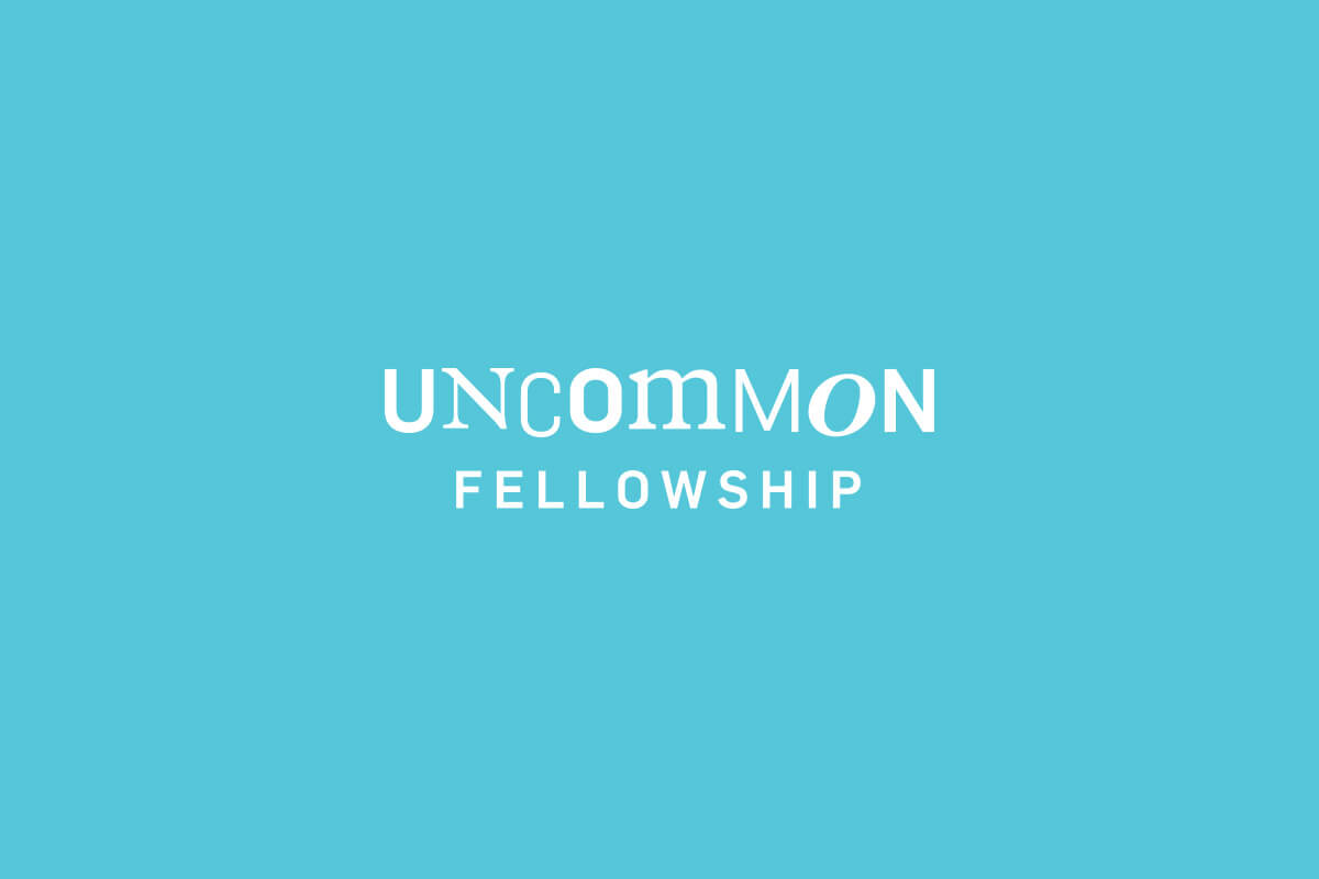 Catalyst Conference Uncommon Fellowship logo design with mixed serif and sans-serif letters