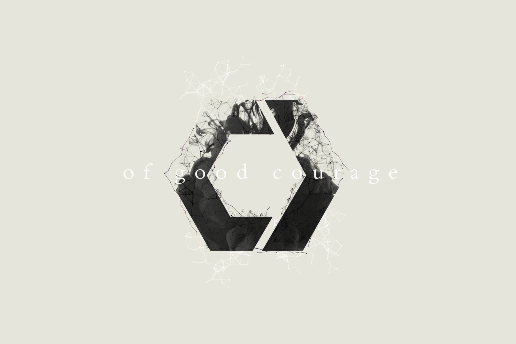 """Catalyst Conference """"Of Good Courage"""" Theme logo and branding design."""