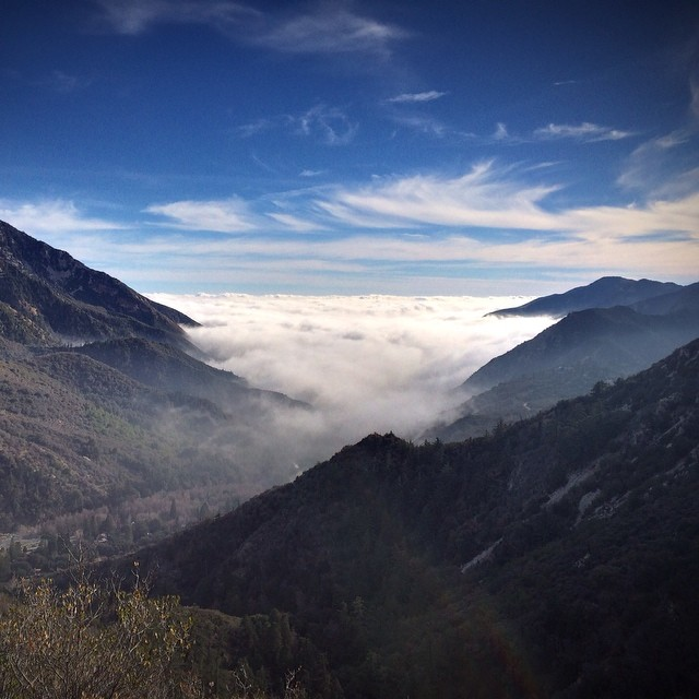"""Checked """"watching the clouds roll into the mountains from above"""" off my bucket list."""