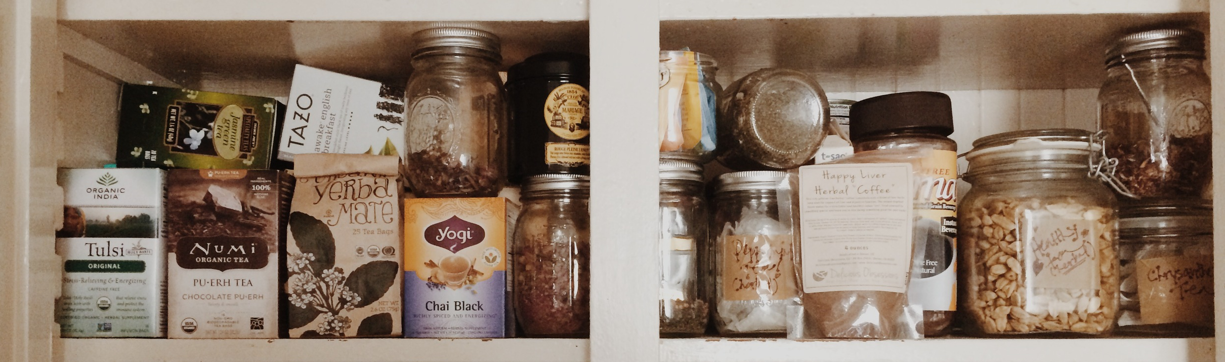 My tea shelf.