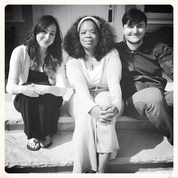 Mastin and Oprah, BFFs.