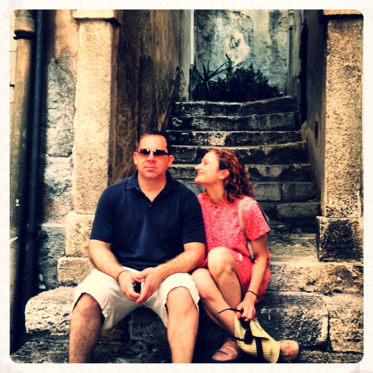 My bestie/sugar daddy. Saint Geoff. Sicily, June 2013.
