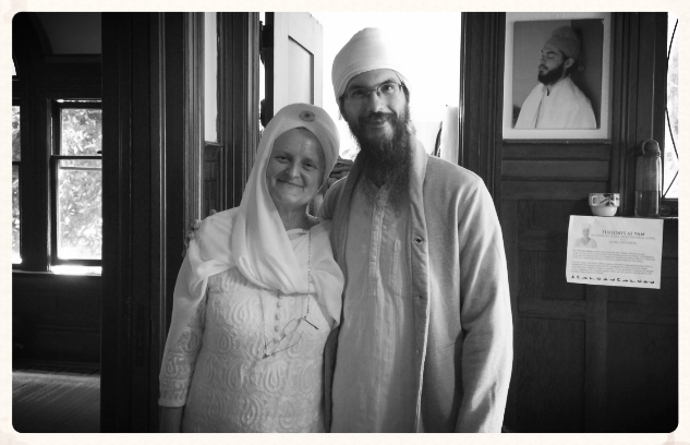 Two of my Kundalini teachers, Awtar Kaur and Saram Singh. San Francisco, 2014.