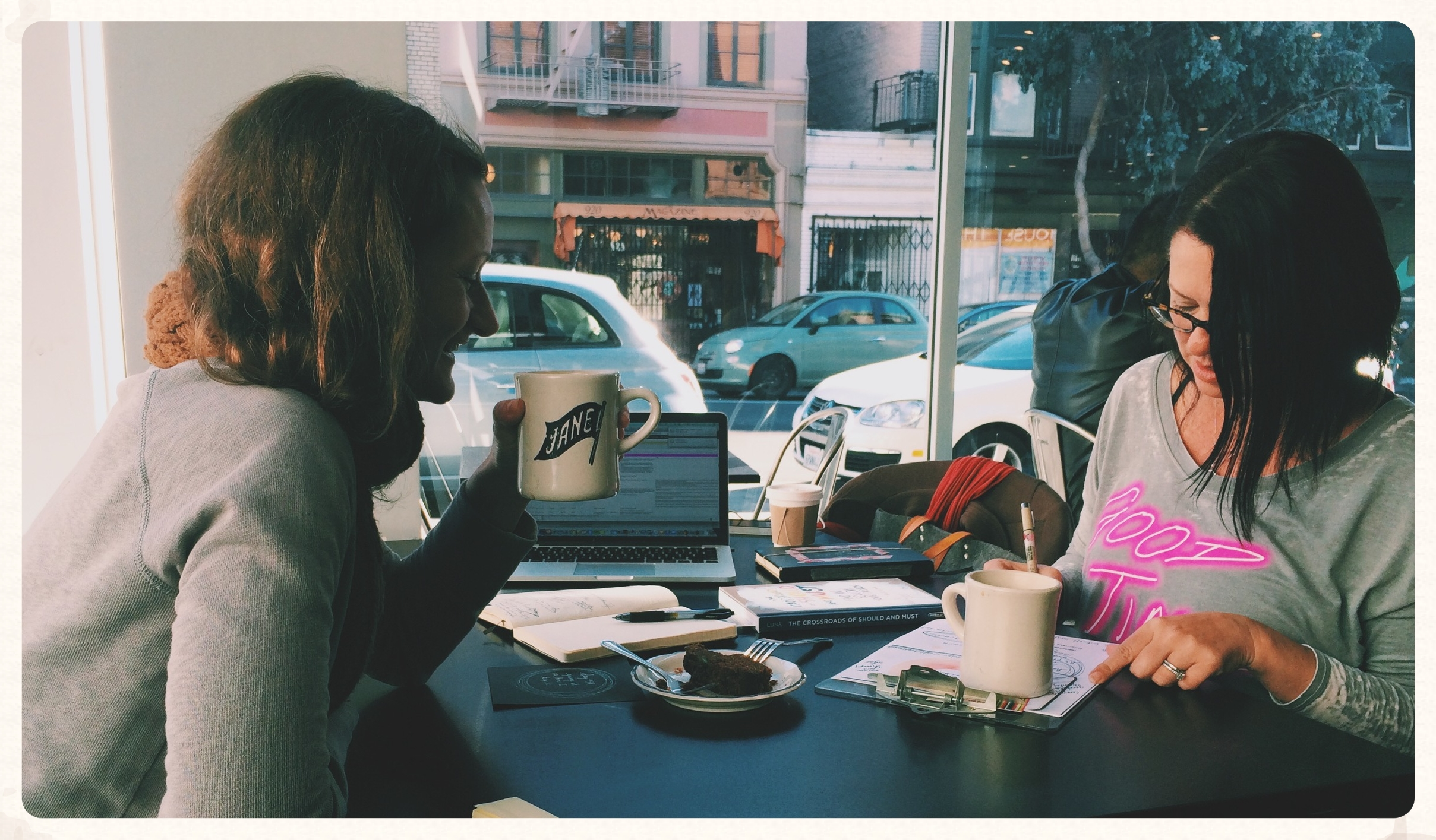 San Francisco, November, 2015. Meeting my new friend,    Tammi Salas   , for coffee and collaboration. I picked her up online.