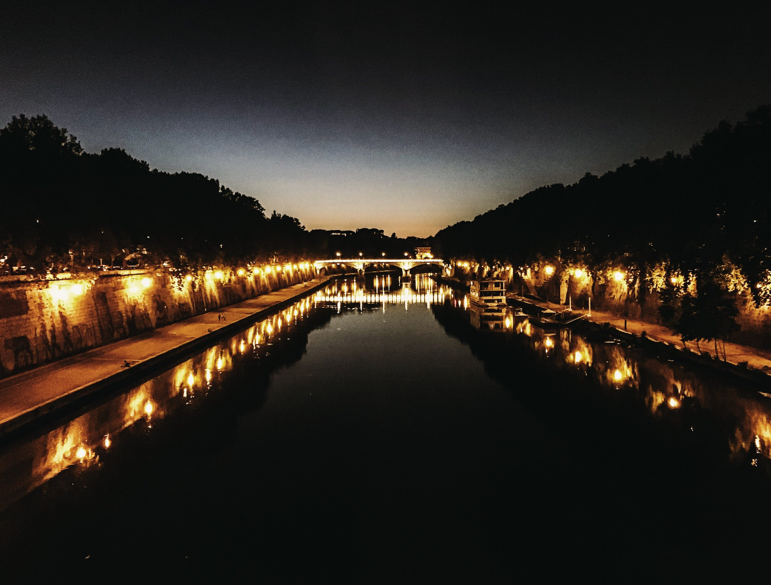 Before.   Rome, August 2016, Ponte Sisto.