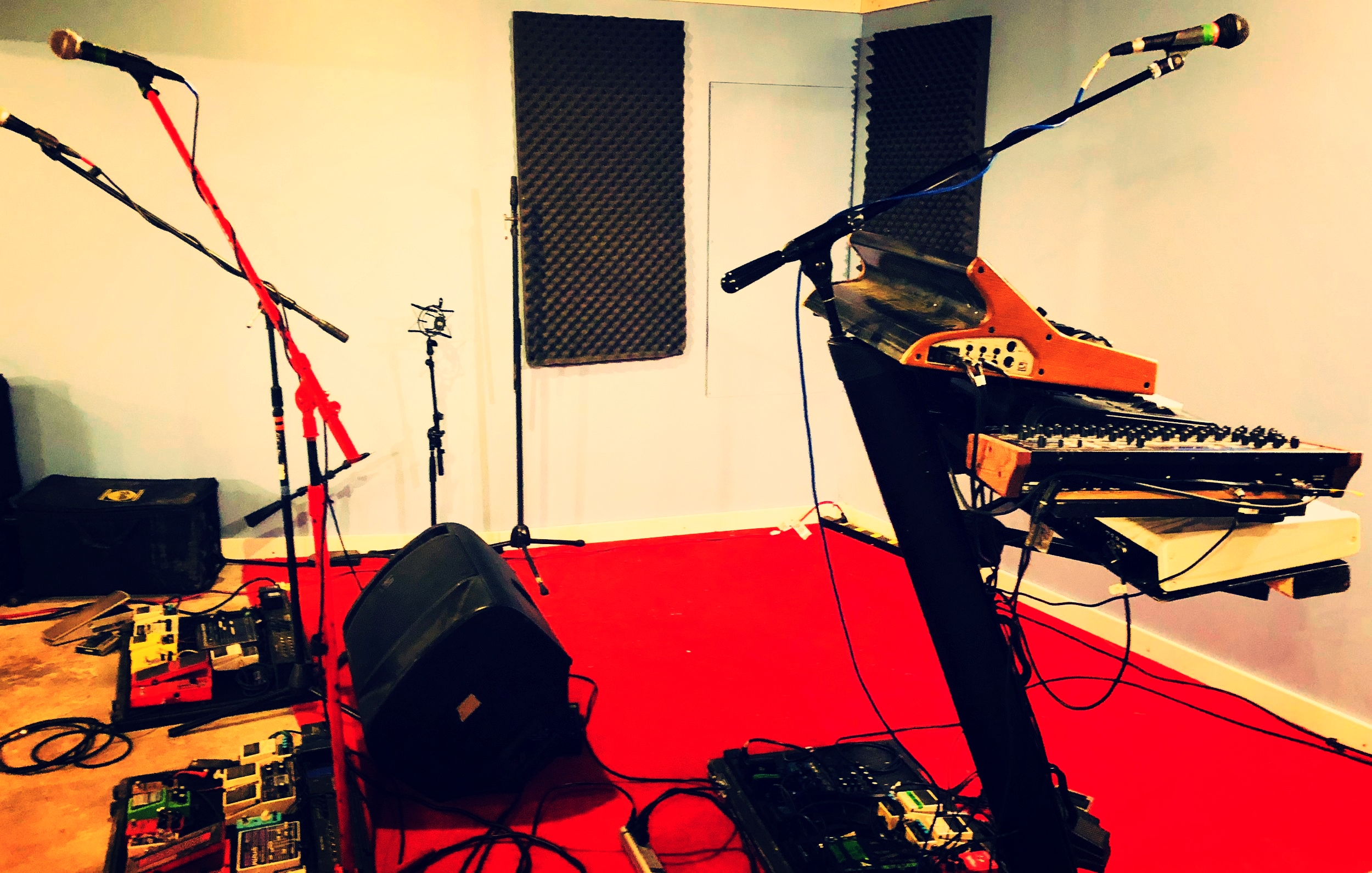 Our newly designed basement session room at the Rock House