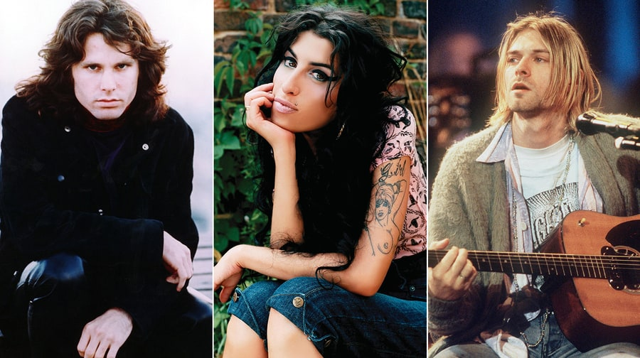 Jim Morrison, Amy Winehouse, Kurt Cobain, the list of notable men and women who died at 27 grows.Getty (2), Photofest