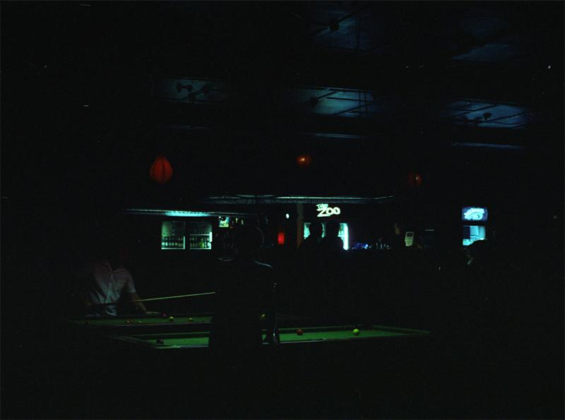 The Zoo. Bar. Fortitude Valley. Cinestill 800 (tungsten).