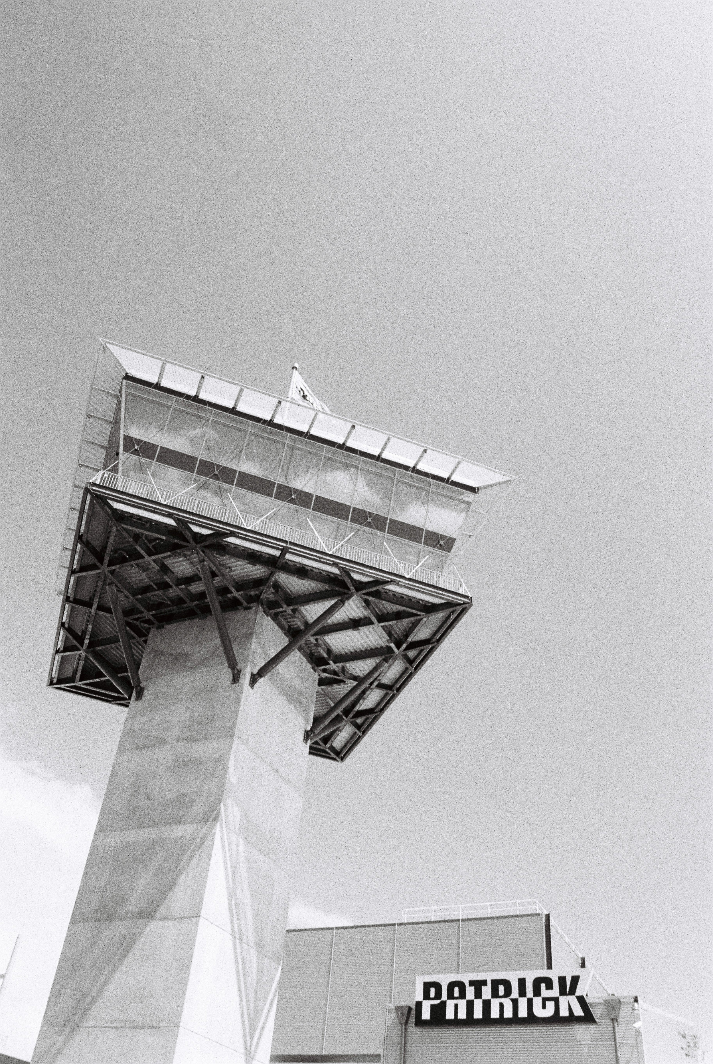 Patrick Wharf Brisbane on Tri-x 400. Nice wide feature shot of the Control Tower.