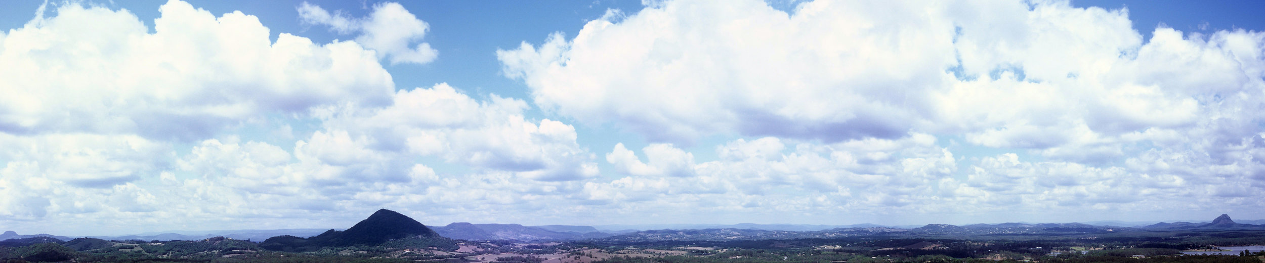 From Mt Tinbeerwah Lookout, Noosa Sunshine Coast Qld Australia