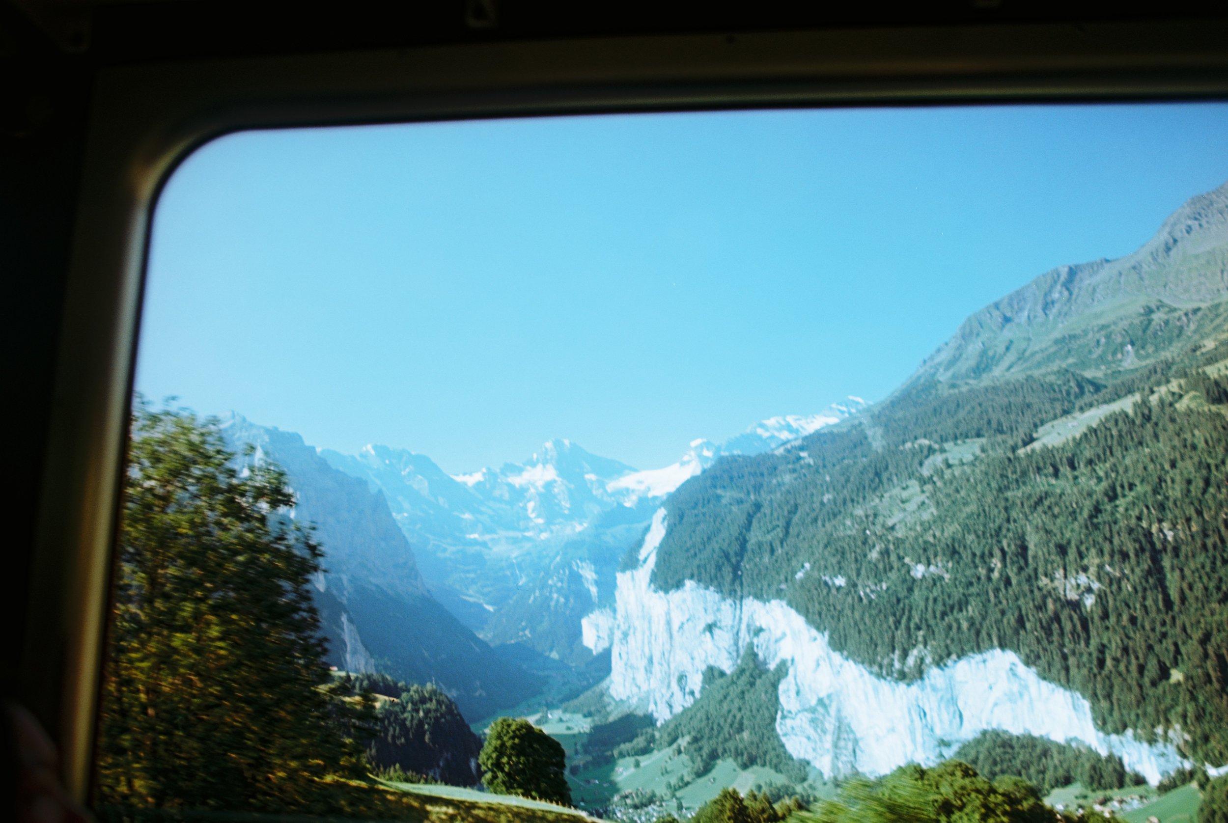 Lauterbrunnen Valley, on the path to Jungfrau, Switzerland