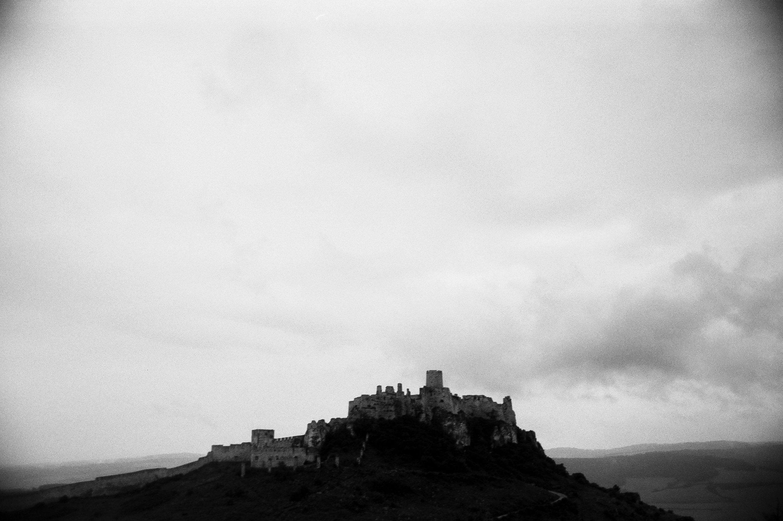 Spiš Castle from afar.