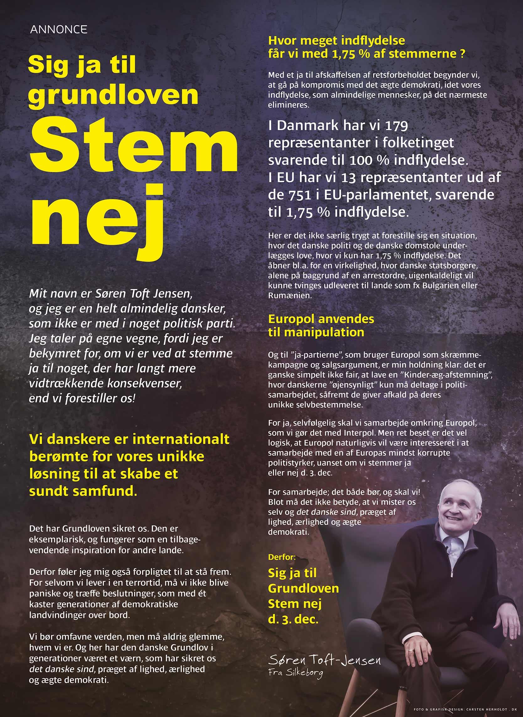 Layout: Carsten Herholdt Tekstforfatning: Søren Toft og Carsten Herholdt