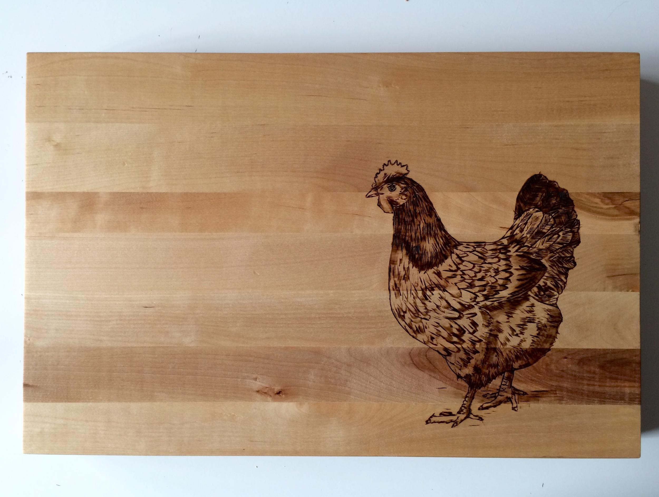 Pyrography chicken