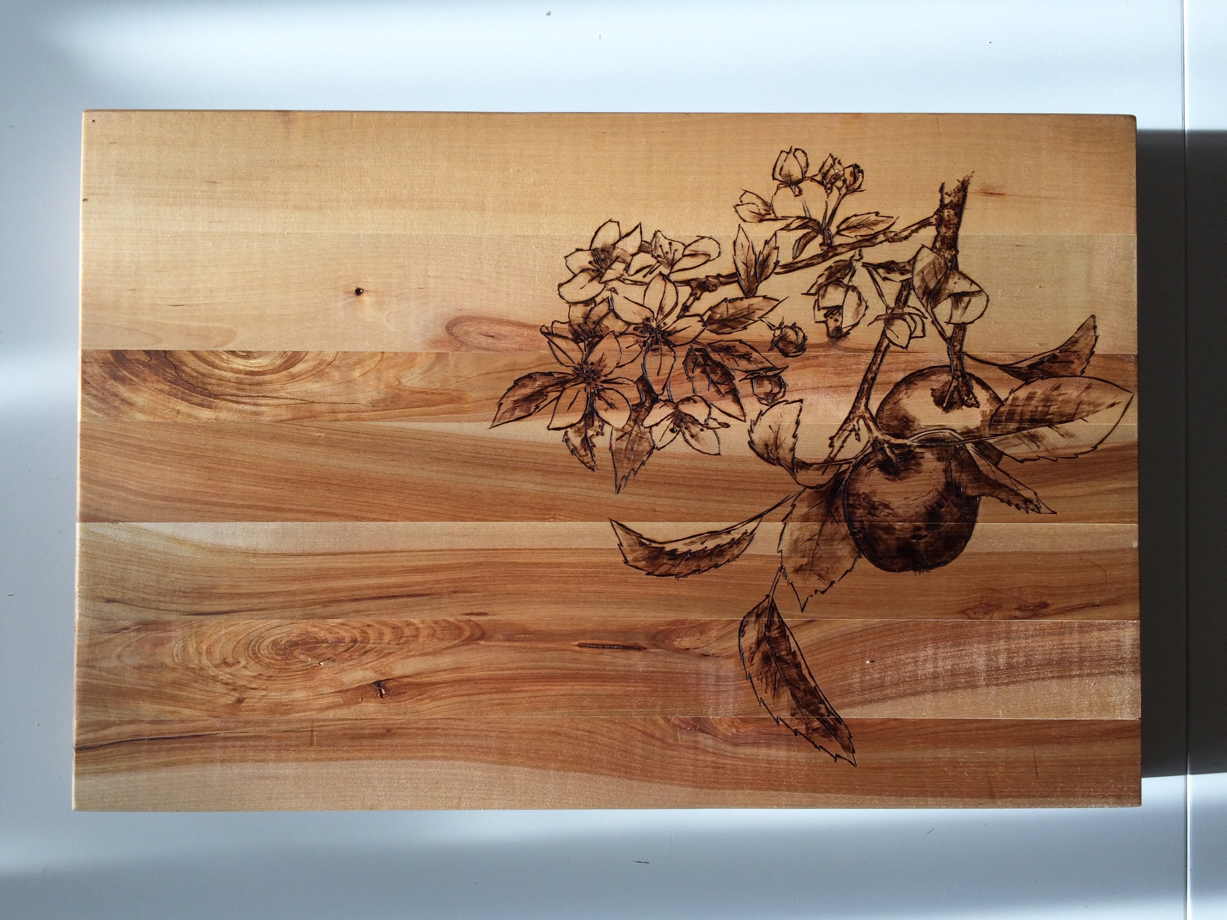 Pyrography apples