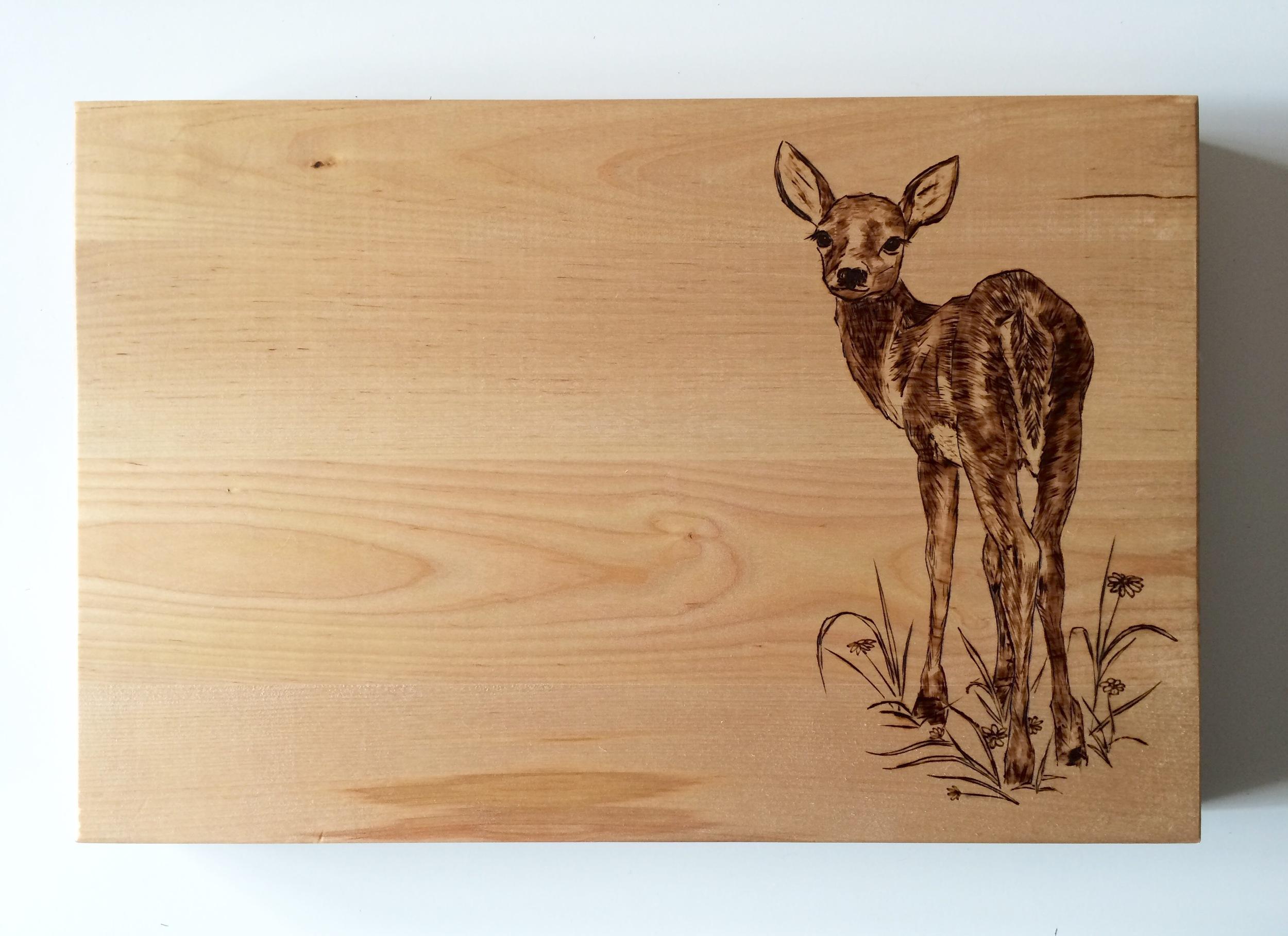 Pyrography deer
