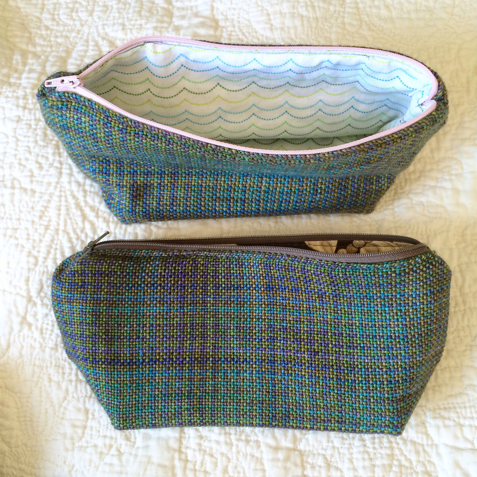 handwoven zipper pouch 1