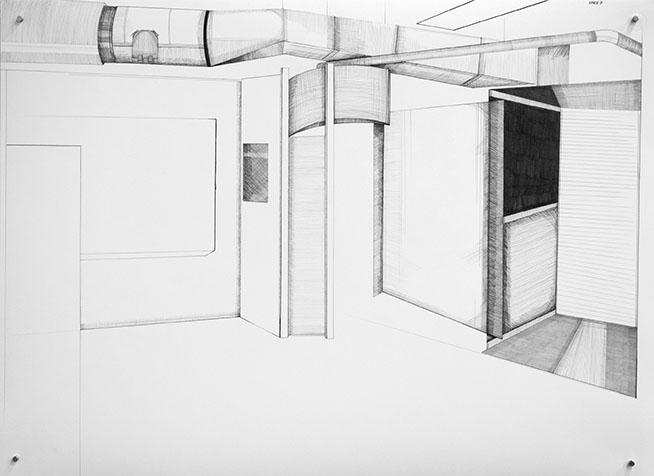 Site D (2011) Graphite on bristol 22 x 30 inches