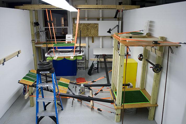 Suspensions: Site A  (2011) Mixed media 15 x 15 x 25 feet