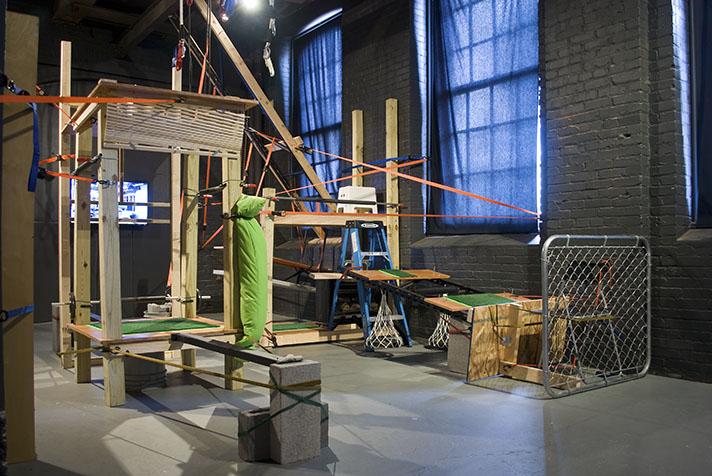 Suspensions: Site E (2011) Mixed media 15 x 20 x 25 feet