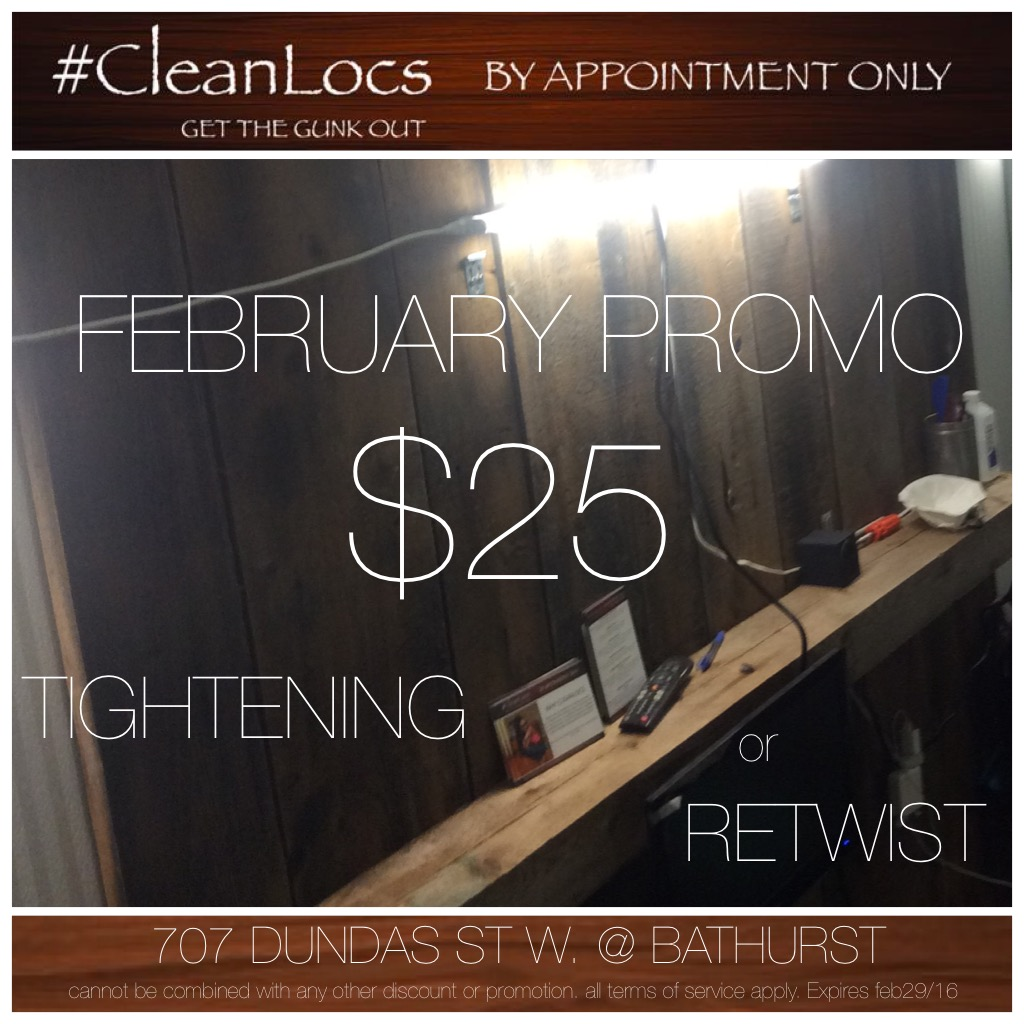 TERMS OF SERVICE: Please understand that CleanLocs specializes in clean hair and will not tighten, or style unclean hair.  Unclean hair will be washed for a fee or the appointment rebooked / Add-On's and Service longer than 4hrs are subject to an additional rate of $20/hr / Timing and prices are subject to change / The deposit is non-refundable, and deducted from your balance at the end of your appointment. You can transfer your deposit to a new appointment as long as the rescheduled appointment takes place within 2 weeks of the first. Rescheduled and BiWeekly appointments booked outside of the 2 week cutoff will result in a new appointment and loss of deposit / BiWeekly appointments must be booked no greater than 2weeks apart to receive preferred BiWeekly rate or pay regular price. CLIENTS ARE RESPONSIBLE FOR BOOKING THEIR OWN APPOINTMENTS ONLINE TO AVOID OVERLAPPING & OTHER SCHEDULING ISSUES / 1st appointment generally takes longer. Print the Map & Directions.