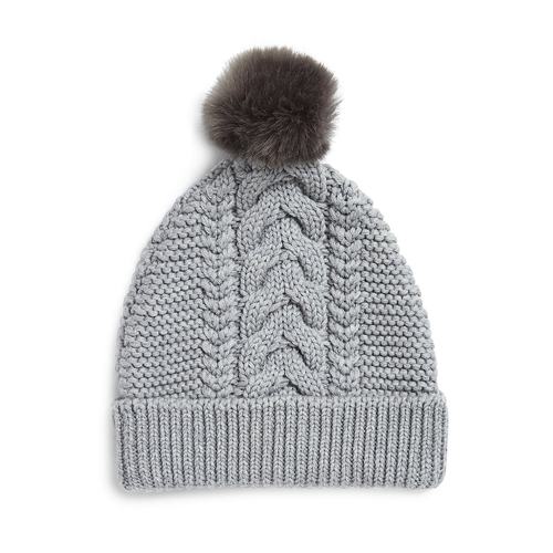 Cable Knit Bobble Hat