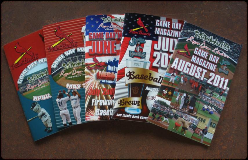 2011 Roger Dean Stadium Game Day Magazine