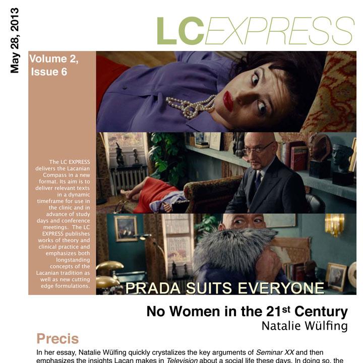 "LCExpress Volume 2 / Issue 6   ""No Women in the 21st Century""  N. Wülfing"