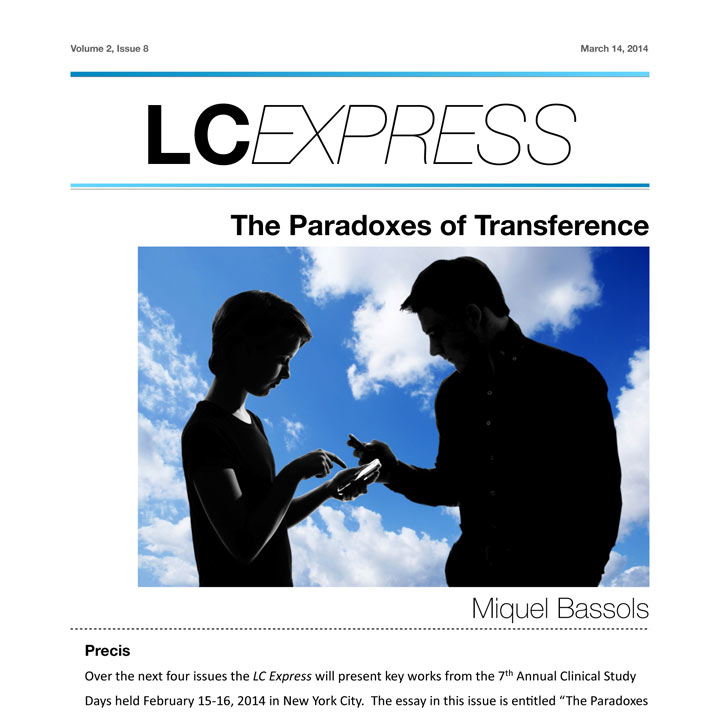 "LCExpress Volume 2 / Issue 8   ""The Paradoxes of Transference""  Miquel Bassols"