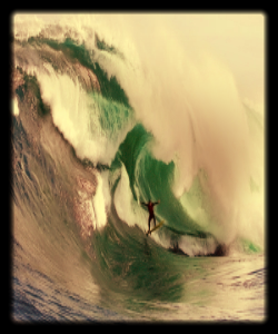 A feature for  Qantas: The Australian Way  exploring the riskiness of big wave surfing at Shipstern Bluff.