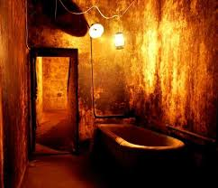 A bathroom at J Ward: a hotspot for supernatural beasties, ghost tour guides say.