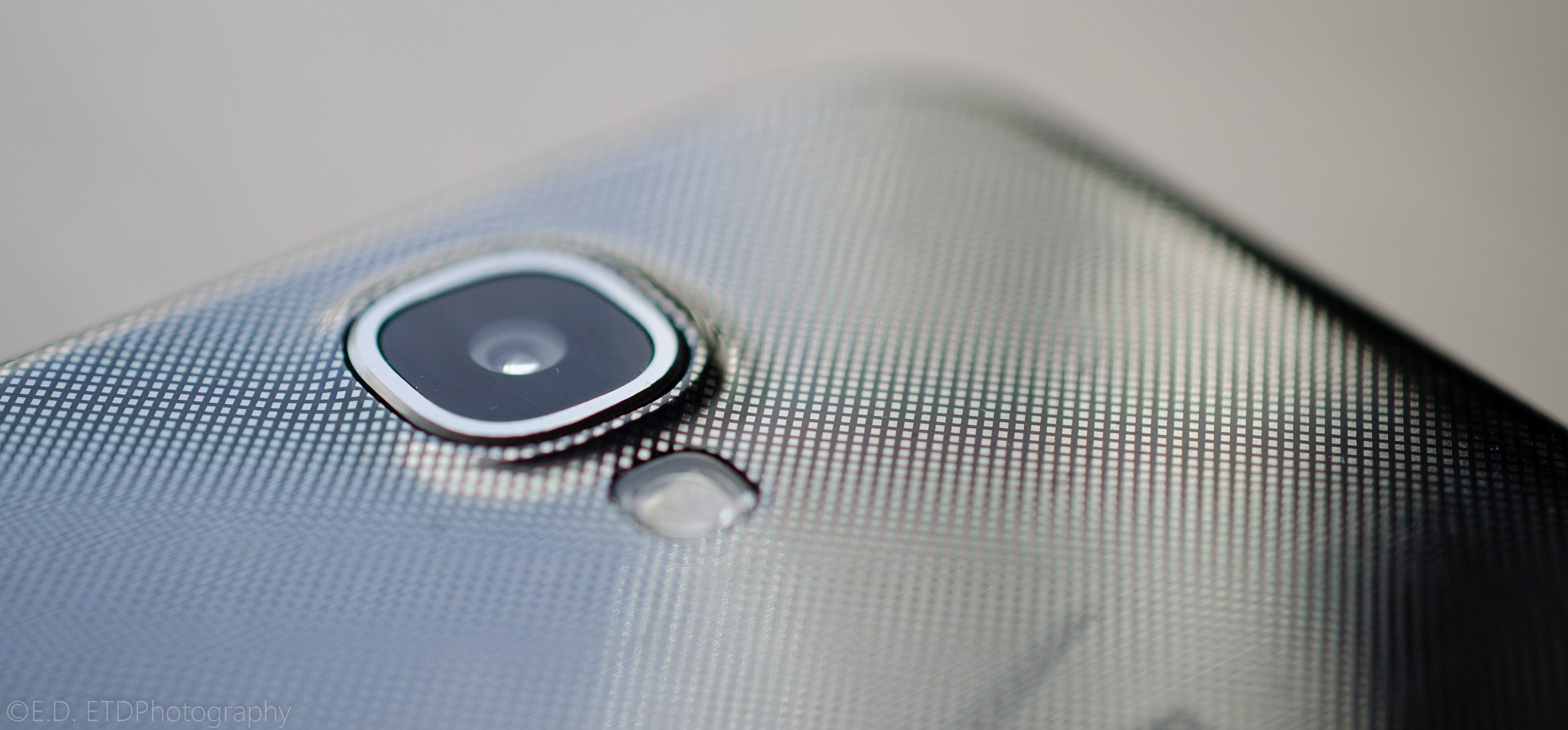The Samsung Galaxy S4 uses a tiny ⅓ inch sensor. Photo by Eric Dye.