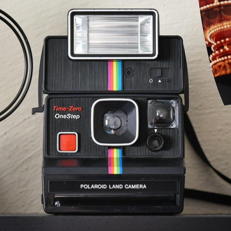 Time-Zero OneStep Polaroid Land Camera, but you already knew that.