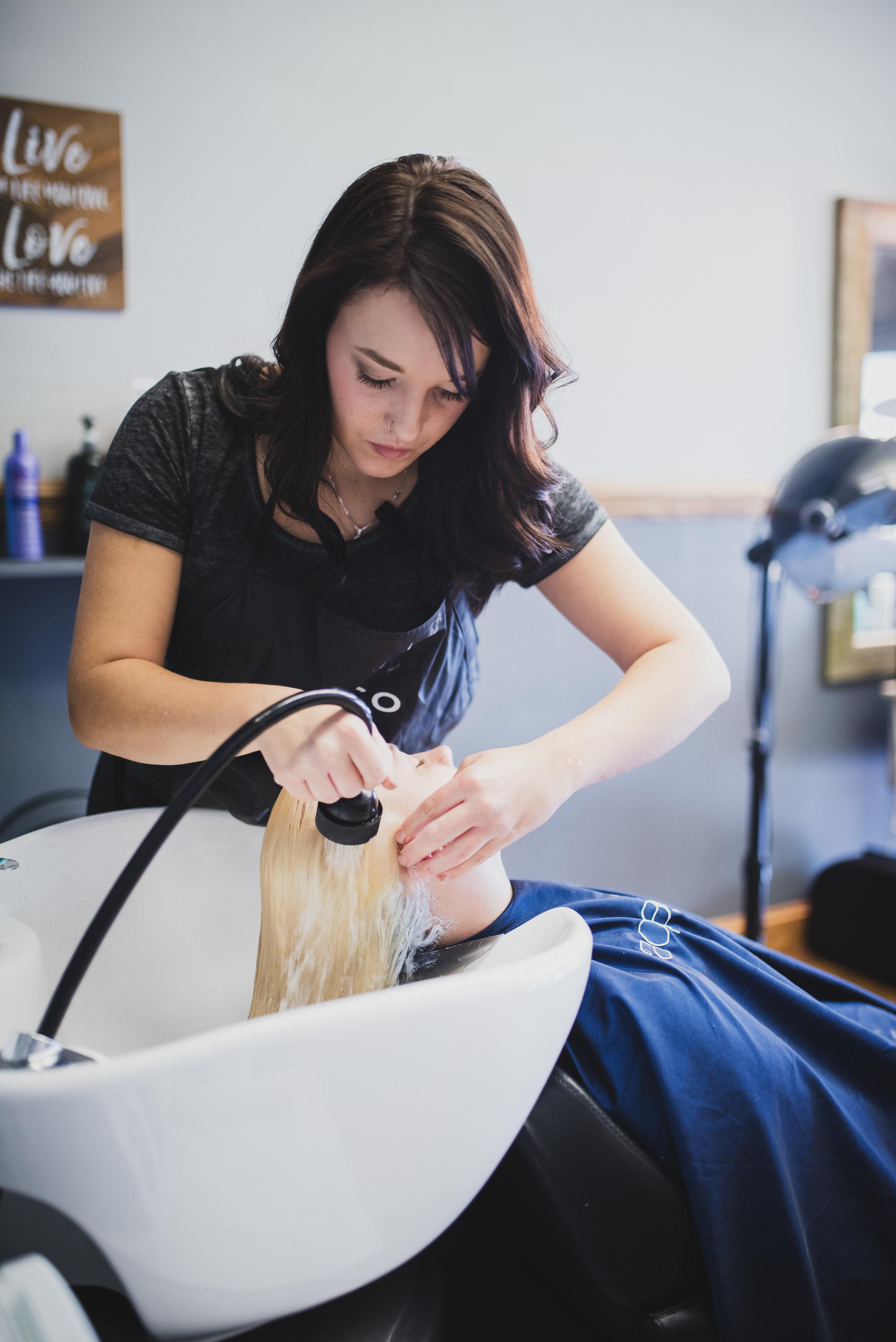 Bekah and Salon Client