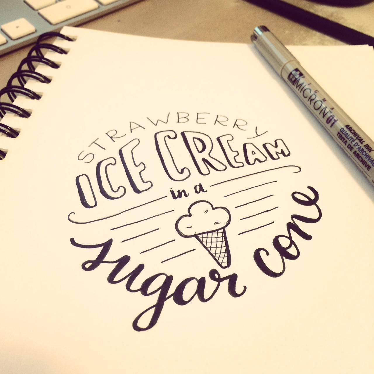day 100 strawberry ice cream.JPG