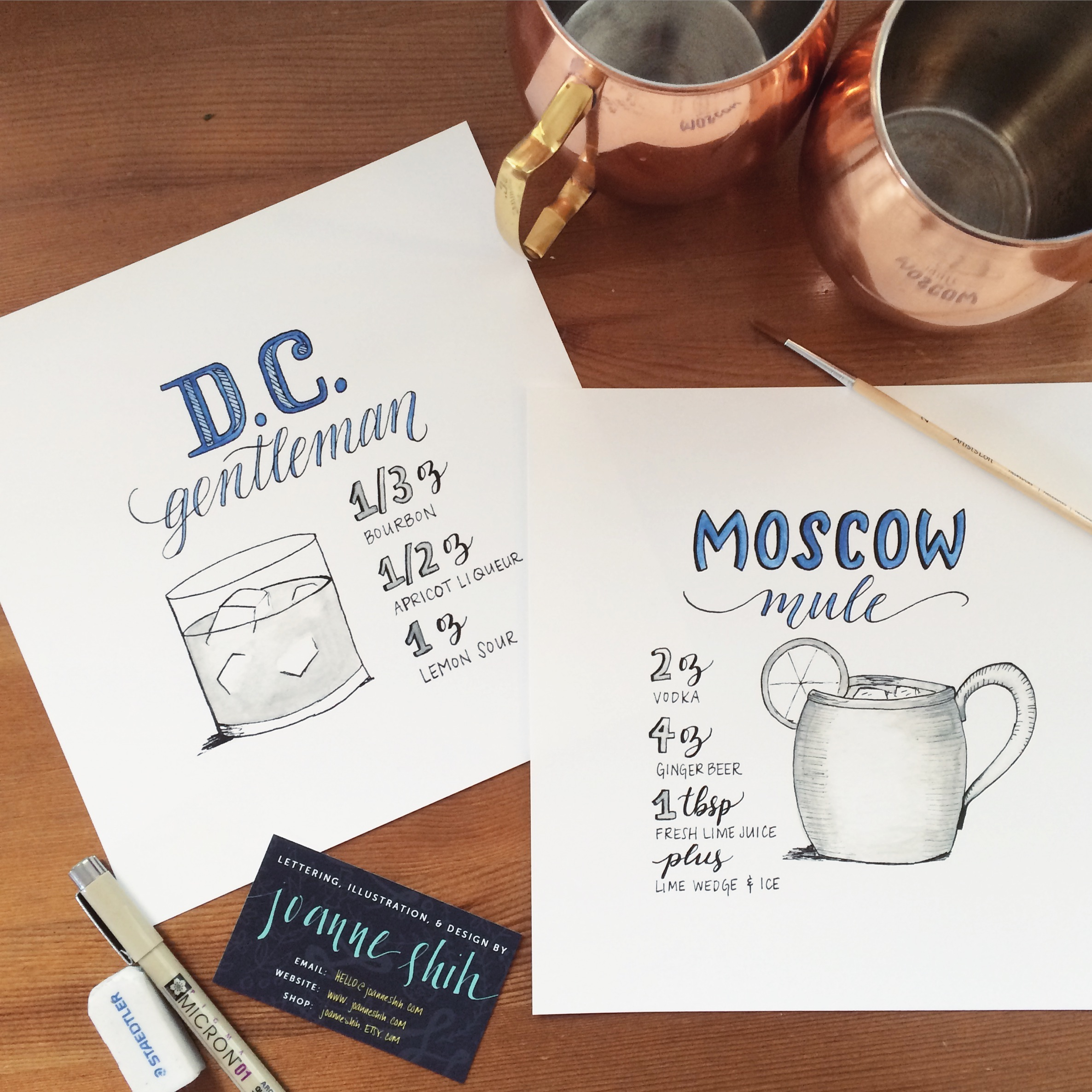 signature drink signs for portland wedding, March 2015