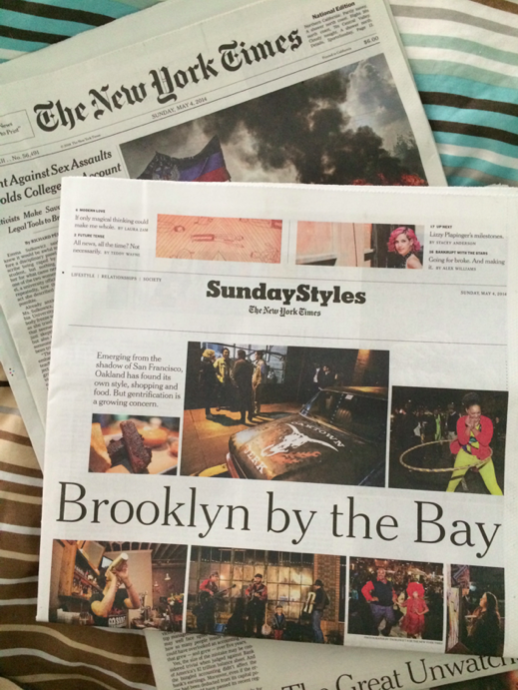 Brooklyn By The Bay: New York Times Style Section; deliberateLIFE part of Oakland's growing tech scene.